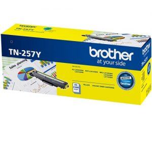 Brother TN-257Y Yellow Genuine Toner 2.3k pages