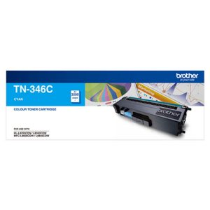Brother TN-346C Cyan Genuine Toner 4k pages