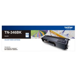 Brother TN-346BK Black Genuine Toner 4k pages